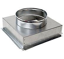 "Modular Metal 6"" x 6"" x 5"", Ceiling Box, Plaster Ground Flange, 30 Gauge"