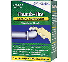 Nu-Calgon 4216-92, Thumb Tite Compound Sealant, 2 Slugs 1 lb./ea.