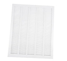 170 Series 20X25 Stamped Face Return Air Grille White Powder Coat Finish