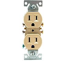 Electrical Duplex Receptacles, 15A, 125V, Ivory