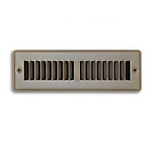 02X10 Stamped Toe Space Floor / Baseboard Register Grille Brown