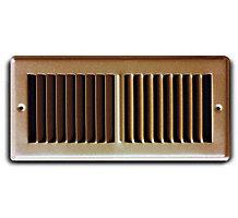 02X12 Stamped Toe Space Floor / Baseboard Register Grille, Brown