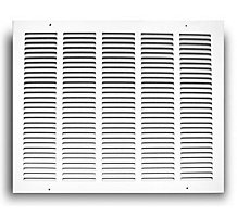 170 Series 25X20 Stamped Face Return Air Grille White Powder Coat Finish