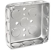 "Steel Electrical Box, 4"" x 4"",  1-1/2"" Deep 1/2"" K.O.'s"
