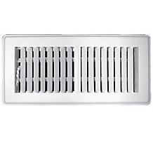 150 Series 04X10 2-Way Stamped Face Floor Register Grill with Multi-Shutter Damper White