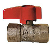 "1/2"" FIP x 1/2"" FIP Straight Gas Shutoff Valve"" Forged Brass Body"