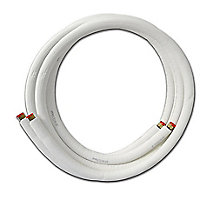 1/4 Inch L x 3/8 Inch S x 3/8 Inch Wall, Line Set, 25 Foot Length, Insulated, For Mini-Split