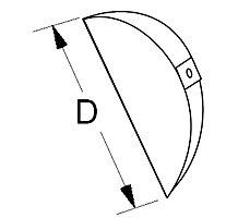 "Splitter Vane, Includes Screws and Washers, 7"" Diameter, Round, 4 Each/Box"