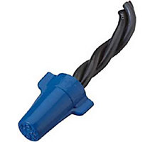 Ideal Wing-Nut 454 Wire Connector, 14-6 AWG Stranded Copper, Blue, 600 Max. Voltage, 25 per Box