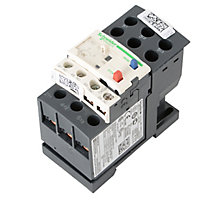 Schneider Electric 99K3201 Overload Protector, 3 Phase Bimetallic Thermal Overload Relay, Adjustable Trip Range 4-6.3 Amps, Class 10