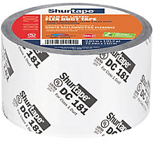 """Shurtape DC 181 Flex Duct Tape, 3"""" x 120 yd., Silver with Black Print"""