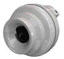Round Inline Exhaust Fan, 120V, 61.7 W, 0.53 A