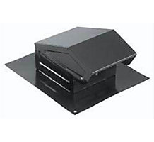 "636 Roof Cap Black 3"" or 4"" Round Duct"