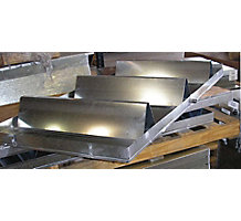 "Metals Heater Platform with Drain Pan Spout, 32"" x 66"""