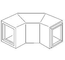 "90DEG  Fiberglass Elbow 9.5"" x 9.5"" ID Dimension"" 1"" Wall"" 4 Each/Box"