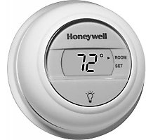 Honeywell T8775A1009 Digital Round, Non-Programmable Thermostat, Heat Only, Round