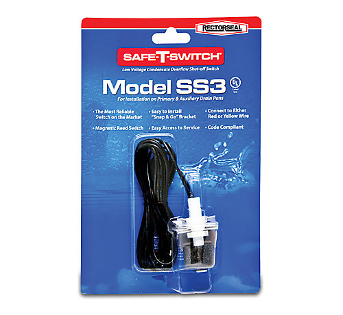 Rectorseal 97647 Safe T Switch Ss3 A C Condensate Pan