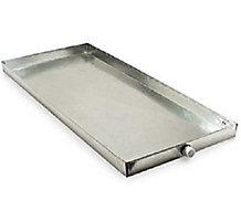 Cody, Auxiliary Drain Pan, 14 Inch x 42 Inch x 2-1/2 Inch, #060, 3/4 Inch PVC Drain Fitting, Galvanized Steel, 0601442