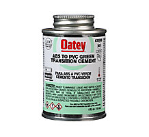 Oatey 30900, ABS to PVC Transition Green Cement, 4 oz.