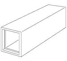 "Fiberglass Straight Duct, 6' Length, 1"" Wall, 8.5"" x 8.5"" ID Dimension, 4 Ea./Box"