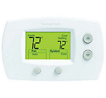 Honeywell TH5220D1003 FocusPRO 5000, Non-Programmable Thermostat, Multi-Stage, Heat Pump