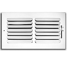 401 Series 14X08 1-Way Stamped Curved Blade Register with Multi-Shutter Damper, Steel