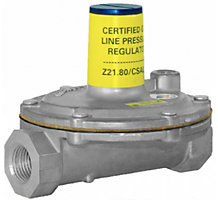 """Lever Acting Design Line Pressure Regulator for 2 PSI Piping Systems 1"""" x 1"""" 7"""" to 11"""" w.c."""