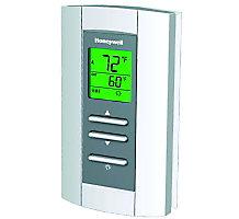 Non-Programmable Communicating Thermostat, TH, TH, Sensor Terminal Designation, Premier White