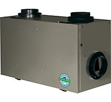 HEALTHY CLIMATE 300 CFM Heat Recovery Ventilator - Dual Core 3rd Generation Damper Defrost