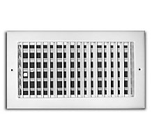 210 Series 08X04 Adjustable Side Wall/Ceiling Supply Grille, Aluminum