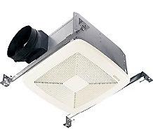 QTXE080, Very Quiet Bath Fan, White Grille, 80 CFM, ENERGY STAR Qualified, 0.3 Sones, Ceiling Installation