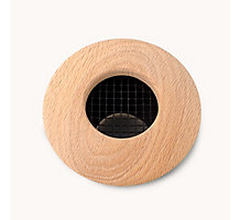"""Round Supply Outlet - Wood Red Oak (Unfinished), 2.5"""" Duct Diameter, 1 Each\Box"""