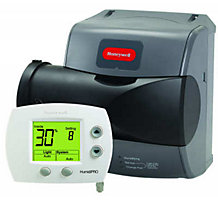 Honeywell HE250A1005 TrueEASE Large Advance Bypass Humidifier, 24 Volts, 60  Hz, 0.75 Amps, 17 Gallons Per Day