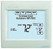 Honeywell TH8110R1008 VisionPRO 8000, Programmable Thermostat, 7-Day, Residential or Light Commercial, Touchscreen, RedLINK Capable