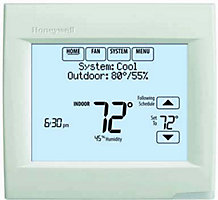 Honeywell TH8321R1001 VisionPRO 8000, Programmable Thermostat, 7 Day, Touchscreen, RedLINK Compatible