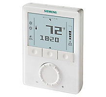Siemens RDG160TU, Commercial Fan Coil Programmable Thermostat, 24V, 3-speed/ECM Fan