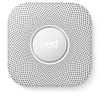Nest Protect S3005PWLUS Carbon Monoxide and Smoke Detector, Wired, White