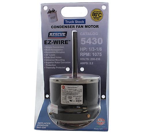 US Motors/Nidec 5430 Rescue EZ-Wire PSC Condenser Fan Motor ... on