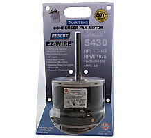 US Motors 5430 Rescue EZ-Wire PSC Condenser Fan Motor, 1 Speed, 1/3-1/6 HP, 208-230/1, 1075 RPM, TEAO