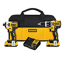 DeWALT DCK287D2 20 Volt XR Lithium Ion Brushless Compact Hammerdrill and Impact Driver Combo Kit