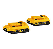 DeWALT DCB203-2 20V Compact XR Lithium Ion Battery, 2 Pack