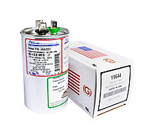 Dual Run Capacitor, Made in USA, 50+5 MFD, 440V, Round