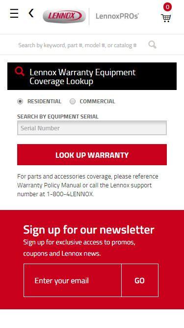 Warranty Lookup