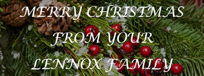 Lennox Christmas Holiday Message