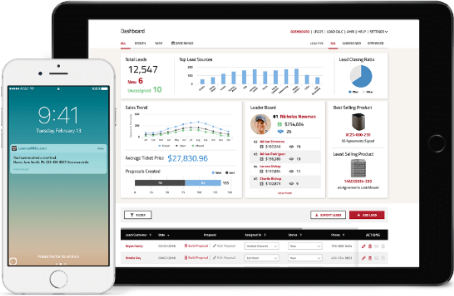 LennoxPros sales and lead dashboard